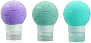 MUUZONING El fútbol Botellas de Viaje de Silicona 100% BPA Gratis Recipientes rellenables portátiles a Prueba de Fugas pa...