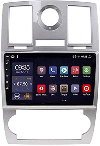 Compatible Para Chrysler 300C 2004-2014 SAT NAV Android 10.0 Unidad De Cabeza FM Radio Receptor Auto Audio Player MP5 Coche Estéreo De 9 Pulgadas Pantalla Táctil Navegación GPS,4 core WiFi 1+16GB