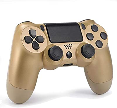 Wireless Controller for PS4 Remote for DualShock 4, Game Control Compatible for Playstation 4,Gold
