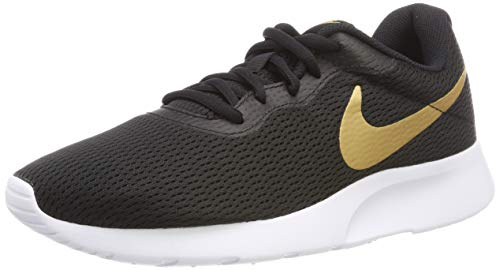 Nike Zapatillas Tanjun Black/Metallic Gold White, Scarpe da Fitness Unisex-Adulto, Multicolore (Aq7154 001, 42 EU