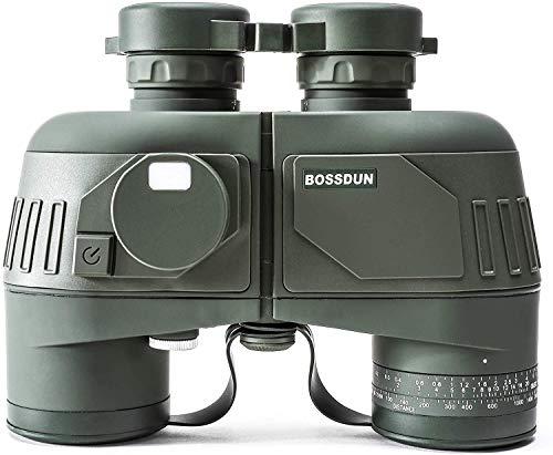10x50 Marine Adult Fernglas, wasserdichtes und beschlagfreies Fernglas mit BAK4 Prism FMC-Objektiv, mit internem Entfernungsmesser und Kompass für Bootfahren, Wassersport, Vogelbeobachtung und Jagd