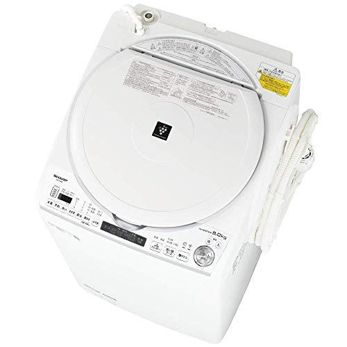 シャープ 洗濯機 洗濯乾燥機 ES-TX8E-W 穴なし槽 インバーター 8kg プラズマクラスター 搭載 F:ホワイト