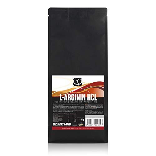 L-Arginin HCL Pulver 1 kg vegan | 99% Reinheit | 100% pur aus pflanzlichen Quellen | nicht aus Haaren oder Entenfedern, keine China-Ware | freie Aminosäure | Golden Peanut