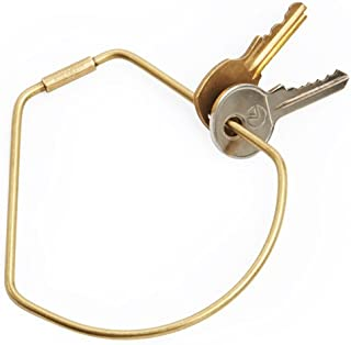 UNTIL Brass Contour Keyring, Bell Style