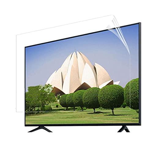 LSSB 32-75 Pulgadas Anti-radiación Protector De Pantalla De TV Antideslumbrante/Anti-luz Azul/Rasguño Anti Cine Filtro De Pantalla Proteja Sus Ojos para LCD, LED, OLED Y QLED 4K HDTV, Personalizable