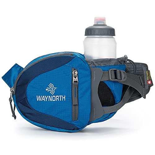 Waynorth Riñonera Running Deportiva con Portabotellas Impermeable Bolso de Cintura para Correr Senderismo Ciclismo para Hombre Mujer