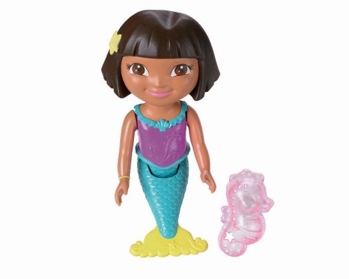 Dora la Exploradora - Sirena, muñeca de baño (Mattel Y1425)