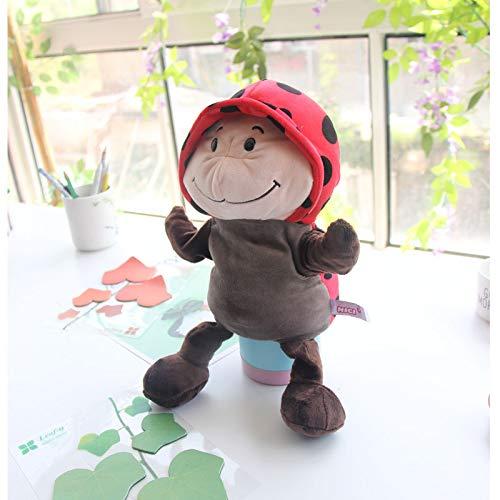 Bauch Tier Handpuppe Spielzeug Puppe Eltern-Kind-Spiel Storytelling Cartoon Handschuh Puppe 1Pc Marienkäfer