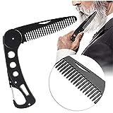 Peine para barba plegable de acero inoxidable para hombres y mujeres, con...