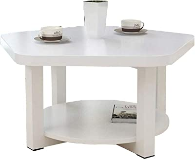 H-ei Creative Coffee Table Simple Living Room Small Table Modern Side Cabinet Assembly Desk (Color : White)