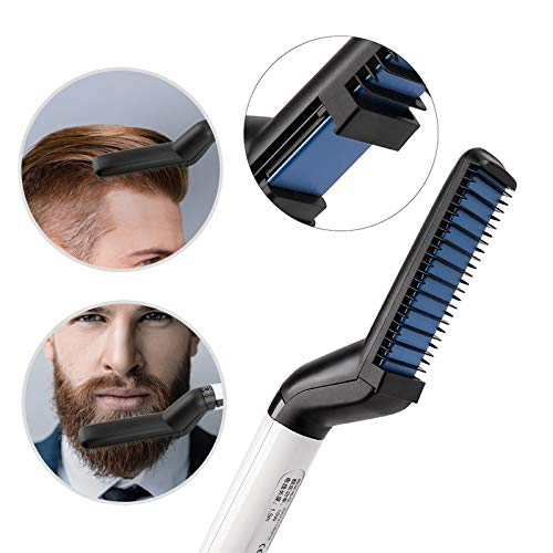 Fer à Friser Multifunctional Hair Comb Brush Beard Straightener Hair Straighten Straightening Comb Hair Curler Quick Hair Styler For Men