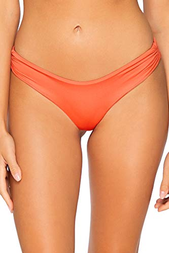 B Swim Sassy Pant Bikini Bottom Swimsuit, Burnt Umber, Large