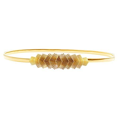 HowYouth - Cinturón - para mujer dorado Geometry Gold