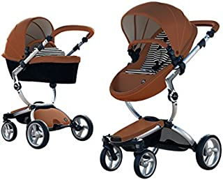 New Mima Xari Stroller Authorized Seller (Aluminum Chassis, Camel Seat, Black & White Starter Pack)