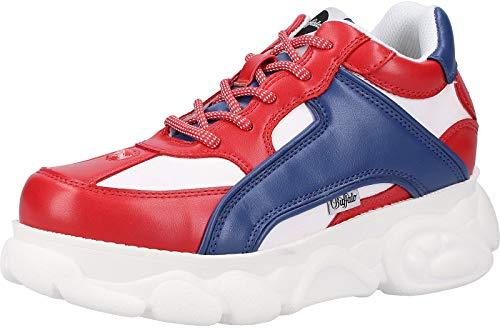 Buffalo Damen Colby Sneaker, Mehrfarbig (Red/Blue/White 000), 38 EU