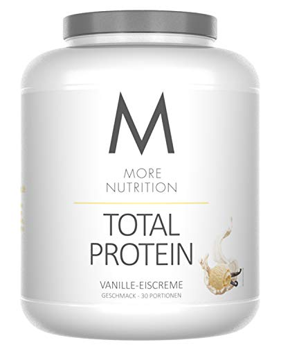More Nutrition Total Protein - Whey & Casein Zur Optimalen Proteinsynthese 1 x 1500g (Vanille Icecream)