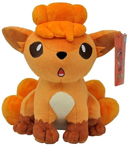Kexle Pokemon Vulpix Plush Toy 24cm, Animal Plush Stuffed Toy Gifts for Children HibiscusNB (Color : Default)