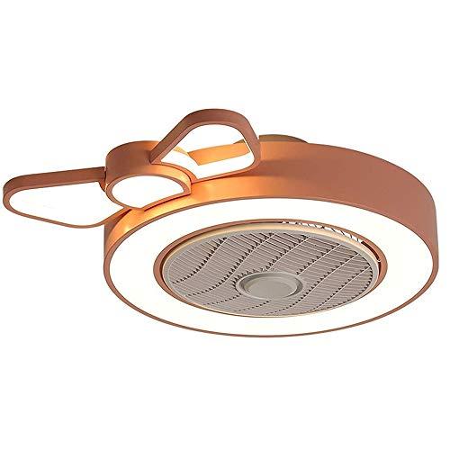 TGRBOP Lámpara De Ventilador Invisible Moderna Con Control Remoto Ventilador De Techo LED De Velocidad Del Viento Ajustable Con Iluminación Dormitorio Ventilador Regulable Simple Luces De Techo Ventil