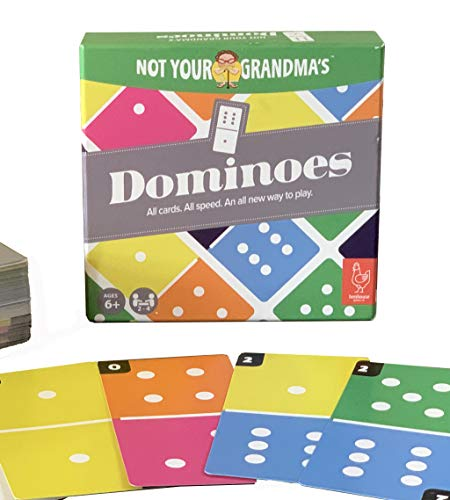 Henhouse Games' Not Your Grandma's Dominoes Card Game | New Family-Friendly Game | Great for Kids, Teens and Adults | for 2-4 Players Ages 6+