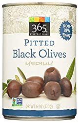 365 Everyday Value, Pitted Black Olives, Medium, 6 oz
