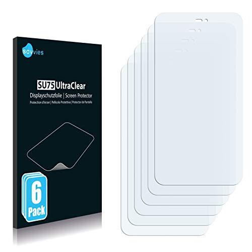 Savvies 6X Schutzfolie kompatibel mit Meizu MX2 Bildschirmschutz-Folie Ultra-transparent