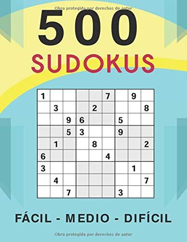 500 Sudokus Fácil - Medio - Difícil: Libro con 500 Sudokus | Todos los Niveles | Regalo Perfecto Para los Amantes de estos Entretenidos Puzzles!