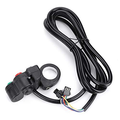 Interruptor de bicicleta ligero, como se muestra en la imagen con la percha de la palanca de embrague de PVC para la motocicleta E-Bike Scooter (Negro)
