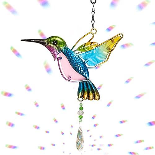 O-Kinee Atrapasoles de Cristal, Cristal Prisma Colgante, Colgantes de Cristal Multicolor Colgante de Prisma de Cristal, Bola de Cristal Transparente para decoración del hogar