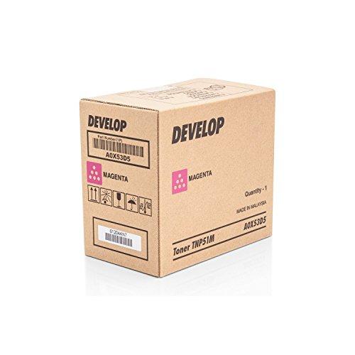 Original Develop A0X53D5 / TNP-51 M, für Ineo + 3110 Premium Drucker-Kartusche, Magenta, 5000 Seiten