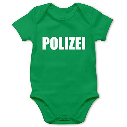 Shirtracer Karneval und Fasching Baby - Polizei Karneval Kostüm - 1/3 Monate - Grün - Strampler Polizei - BZ10 - Baby Body Kurzarm für Jungen und Mädchen
