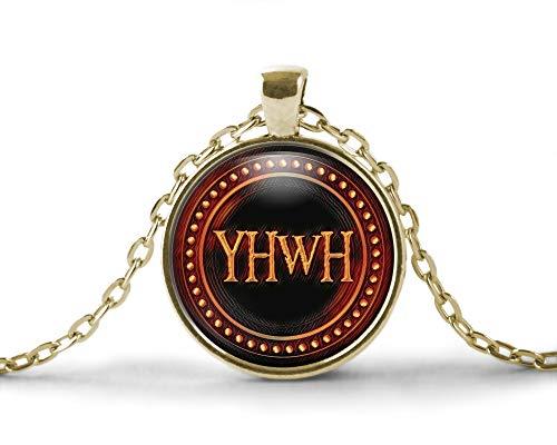 TAHLIA YHWH Hebrew Israelite Necklace, Tetragrammaton YAH | YaHaWaH Torah Messianic Necklace for Men, Women or Child
