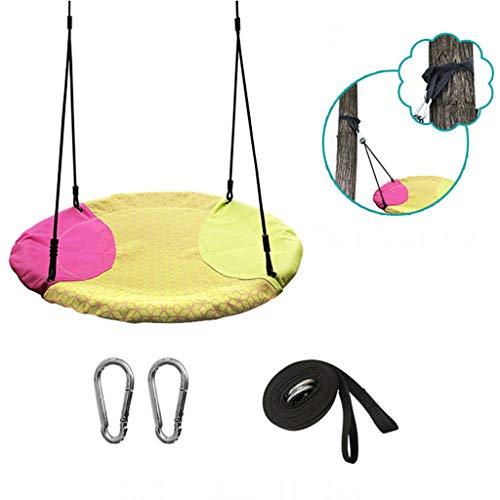 LXYu-Nestschaukel Schaukel im Freien, runde Baby-Stuhl-Schaukelhängeseile 220 Pfund Capacit Spielplatzgeräte Wippe Fliegende Untertasse Baum, verstellbare Länge hängende Seile