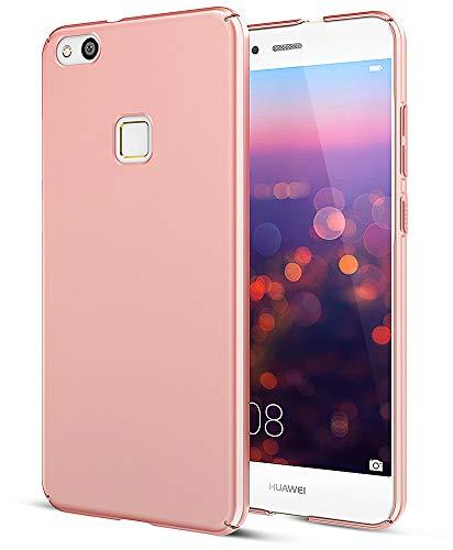 EIISSION Case Kompatibel mit Huawei P10 Lite (5.2') Hülle, Hardcase Ultra Dünn Huawei P10 Lite Schutzhülle aus Hart-PC Case Cover Handyhülle für Huawei P10 Lite (Rose Gold)