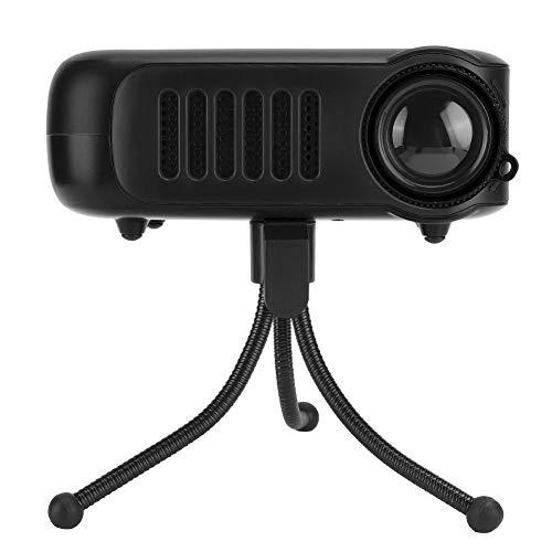 Archuu Mini proiettore con treppiede , Videoproiettore Portatile con risoluzione 320 x 240 con Schermo LCD da 2 Pollici Proiettore cinematografico per Home Theater con Telecomando (100-240 V)(Nero)