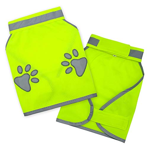 Doggie Style Store Yellow Hi-Vis Hi Visibility Fluorescent Dog Pet Puppy...