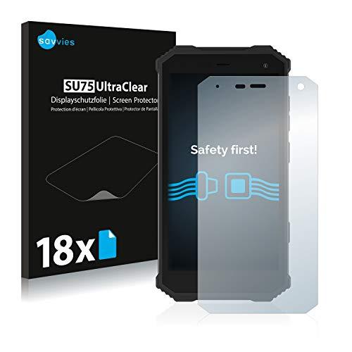 Savvies 18x Schutzfolie kompatibel mit Archos Saphir 50X Bildschirmschutz-Folie Ultra-transparent