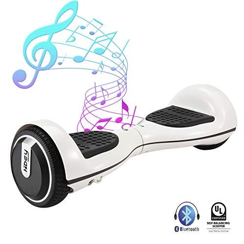 Hiboy Balance Scooter Elektrische step, 250 W met UL2272-certificaat, bluetooth luidspreker, 3,5 W, 6,5 inch wielen, TW01S - wit