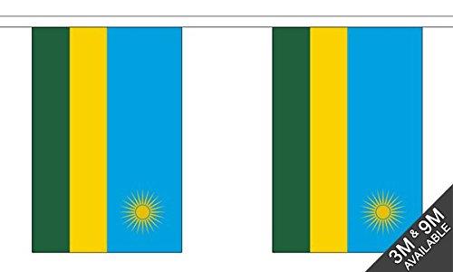 Die Flagge Großhändler b039572Ruanda Wimpelkette, Mehrfarbig, 24x 1x 23cm