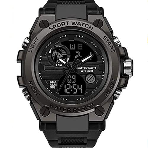 Bysion Mens sports smart watch, outdoor luminous waterproof digital military watch, multi-function special forces electronic watch