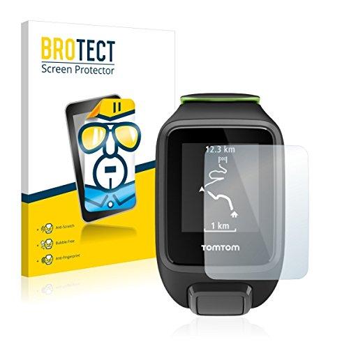 2X BROTECT HD Clear Bildschirmschutz Schutzfolie für Tomtom Runner 3 (kristallklar, extrem Kratzfest, schmutzabweisend)