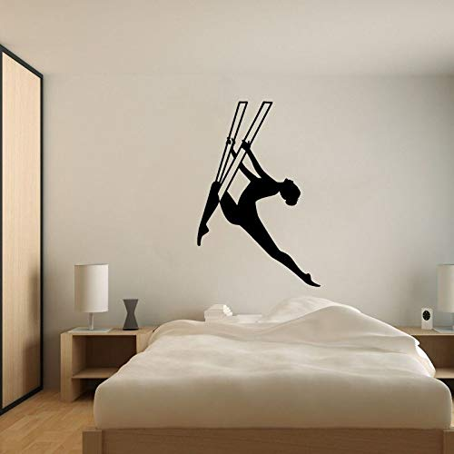FPUYB 45CM*67.5CM Interesting Gymnastics Yoga Wall Sticker PVC Room The Bedroom Extreme
