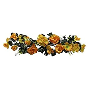 Yellow Swag Roses Hydrangea Silk Wedding Flowers Arch Gazebo Table Centerpieces Artificial OSW01