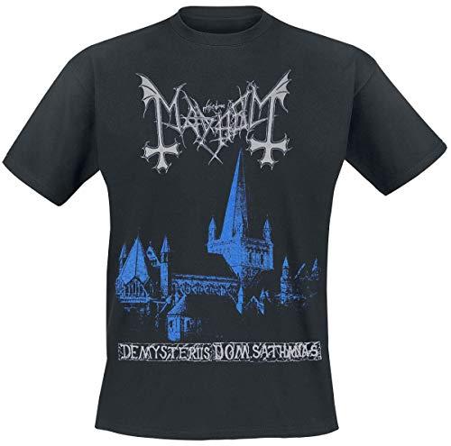 Mayhem De Mysteriis Dom Sathanas Männer T-Shirt schwarz L 100% Baumwolle Band-Merch, Bands