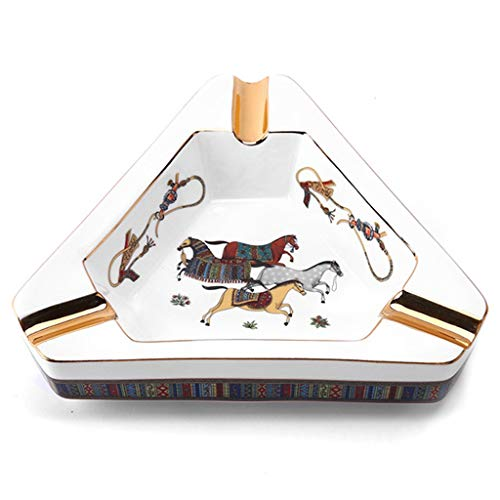 MSF Asbak sigaar asbak, geschilderd driehoekig keramiek huishouden tafel asbak console, voor rookkamer woonkamer KTV kantoor hotel
