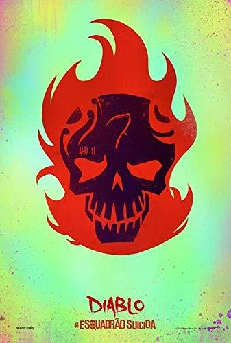 Suicide Squad – Diablo - Brazilian Film Poster Plakat Drucken Bild - 43.2 x 60.7cm Größe Grösse Filmplakat