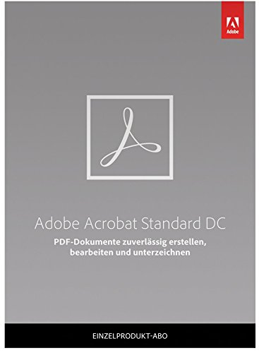 Adobe Acrobat Standard DC | Standard | 1 Jahr | PC | Download
