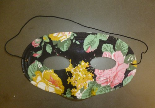 Pack of 12 Unique Flower Pattern Eye Masks - Drama/Theatre/Fancy Dress (HW225)