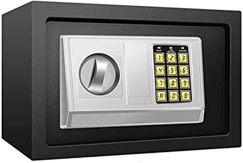 LZRZBH Safe Anti-Diebstahl-Schließfach, mit Lock-Banknote Piggy Bank Hausratversicherung Box stählernen Small Wert Sicher, Digitaler Tastatur, Schrank Safes for ID-Papiere, Dokumente, die Laptop-Compu