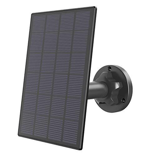 Lemnoi Solarpanel-Netzteil für A10-Batterie-Überwachungskamera, Solar-Ladegerät mit 3-Meter-Kabel, wetterbeständig montierbar