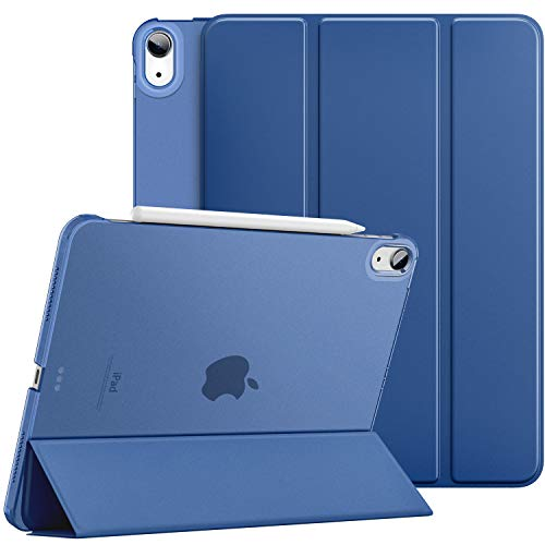 Dadanism iPad Air 4th Generation Case 2020 iPad 10.9 Case, Slim Smart Shell Protective Stand Cover with Translucent Frosted Back, Auto Wake/Sleep, Navy Blue